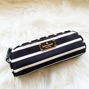 Kate Spade Small Berrie Striped Pouch Makeup Case
